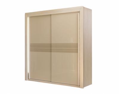 Armoire 2 portes coulissante verre laqué sérigraphié - 1