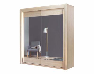 Armoire 2 portes coulissantes miroirs biseautés - 1