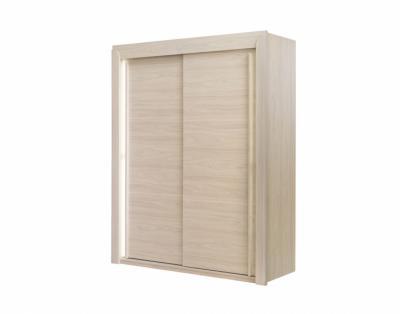 Armoire 2 portes coulissantes bois - 1