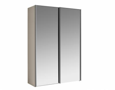 Armoire 2 portes coulissantes miroirs - 1