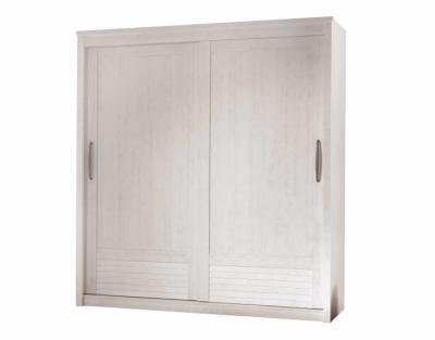 19h07 - Armoire 2 portes bois coulissantes - 1