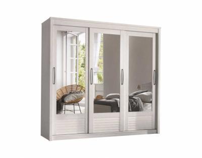 19h11 - Armoire 3 portes coulissantes miroirs biseautés - 1