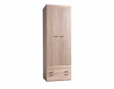 17h19 - Armoire portes battantes bois avec tiroirs - 1