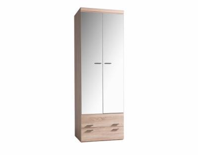 17h20 - Armoire portes battantes miroirs avec tiroirs - 1