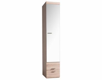 17h18 - Armoire porte battante miroir avec tiroirs - 1