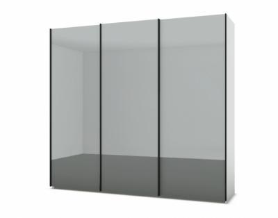 21H233 - Armoire 3 portes coulissantes verre laqué   - 1