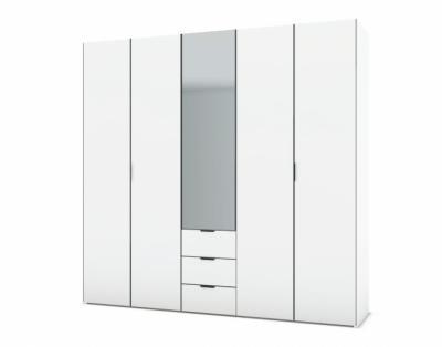 21H11 - Armoire L250 portes battantes bois avec tiroirs - 1