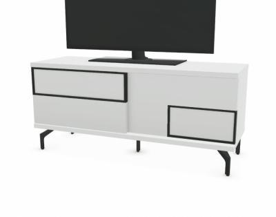 22M0402 - Meuble TV 2 portes coulissantes façade bois - 1