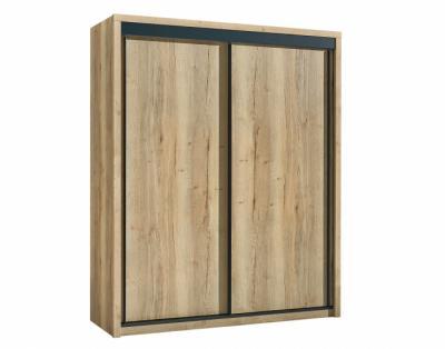 24B05 - Armoire 2 portes coulissantes bois - 1