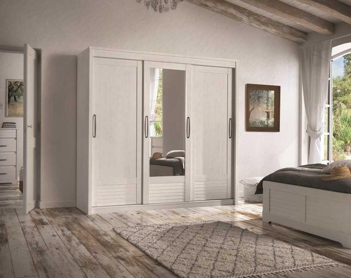 armoire 2 portes bois 1 porte miroir biseaut coulissantes. Black Bedroom Furniture Sets. Home Design Ideas