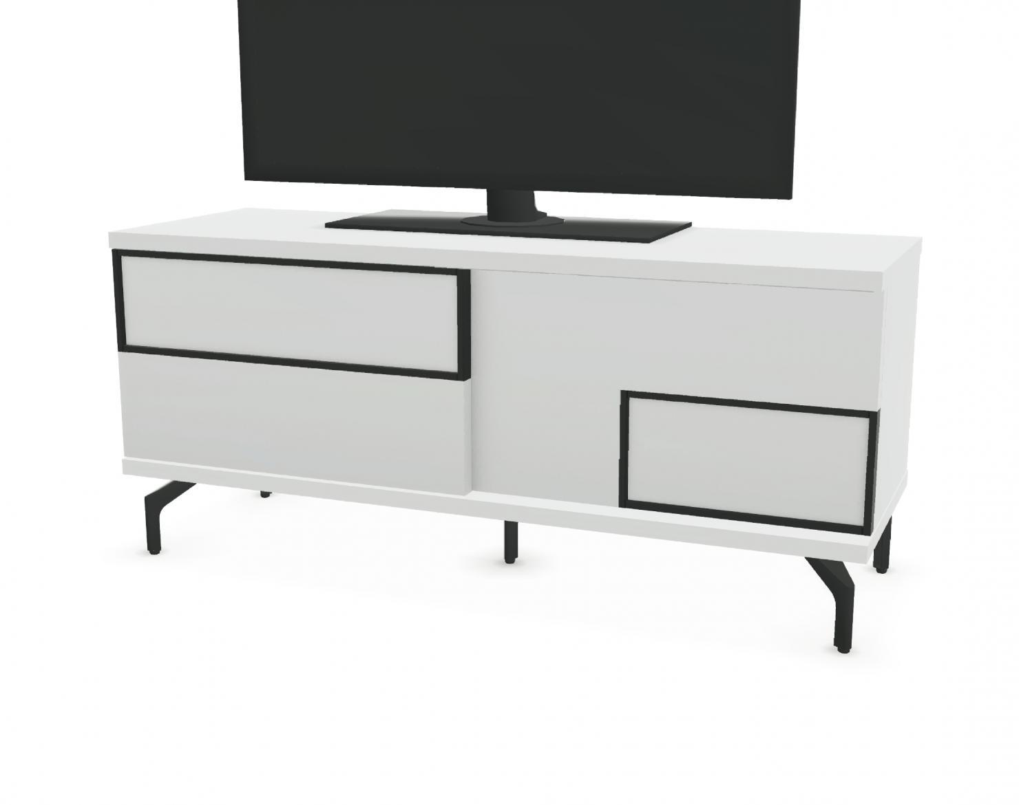 Tele Au Pied Du Lit meuble tv 2 portes coulissantes façade bois