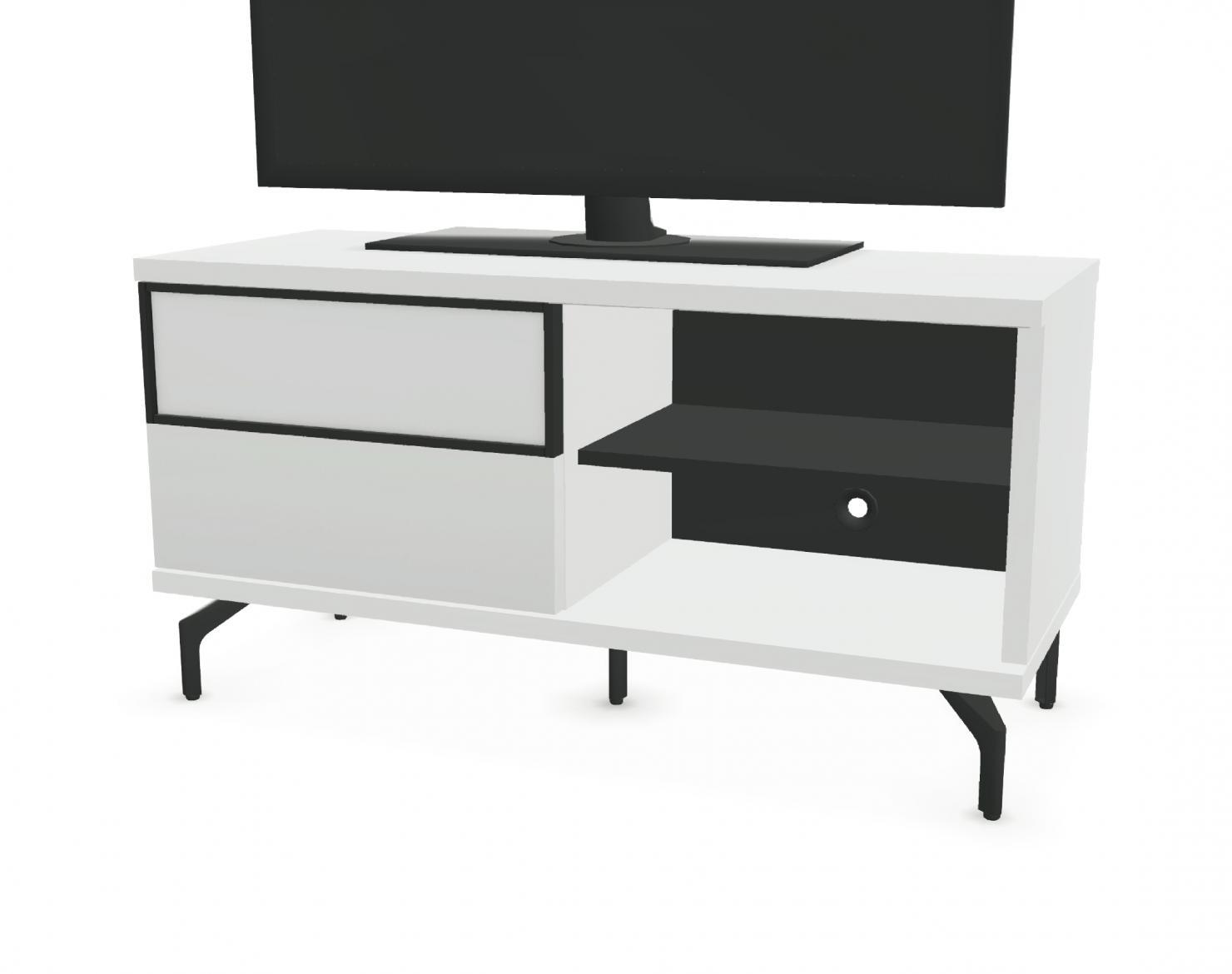 meuble tv 1 porte coulissante 2 niches fa ade bois. Black Bedroom Furniture Sets. Home Design Ideas