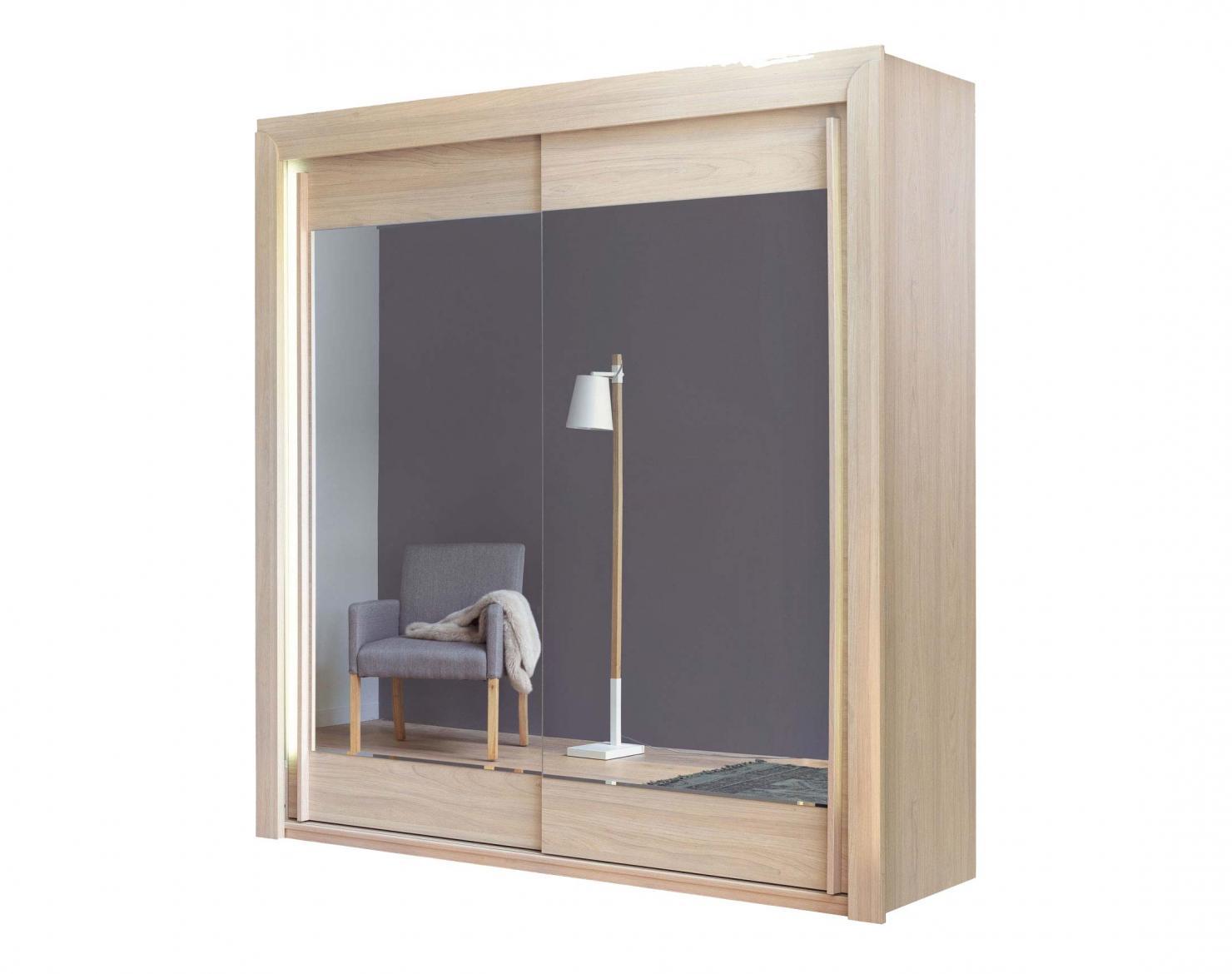 Armoire 2 Portes Coulissantes Miroirs Biseautes Cosy Meubles Celio